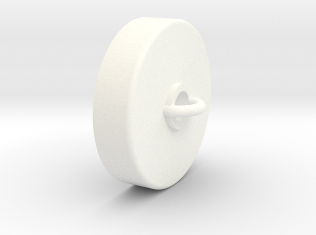 Ceiling Plate/Hook for Chandelier - Contemp in White Processed Versatile Plastic