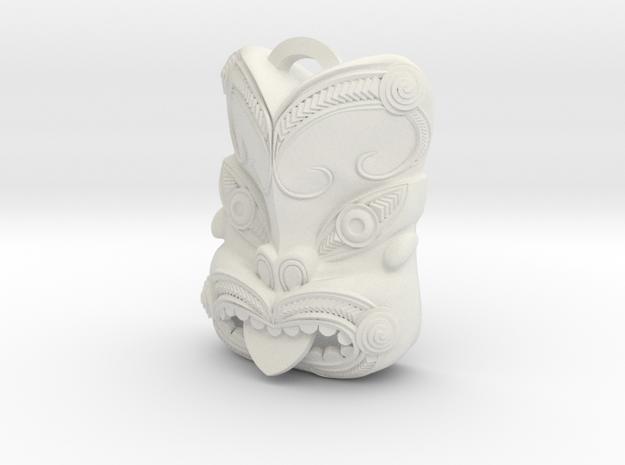 New Zealand Maori pendant  in White Natural Versatile Plastic