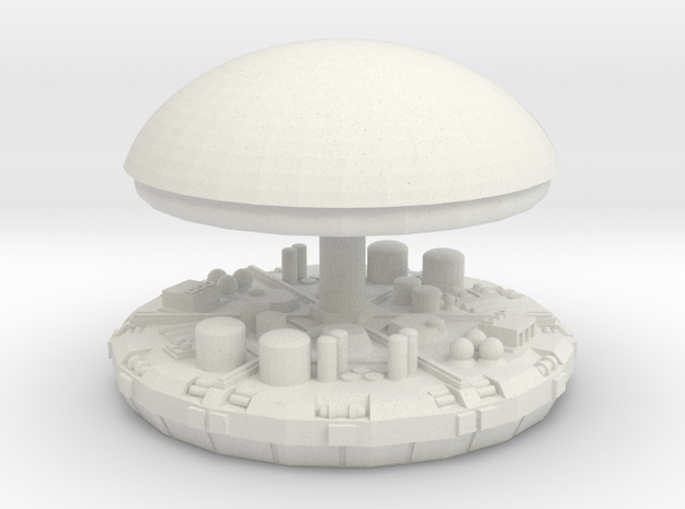 Dome and top in White Natural Versatile Plastic