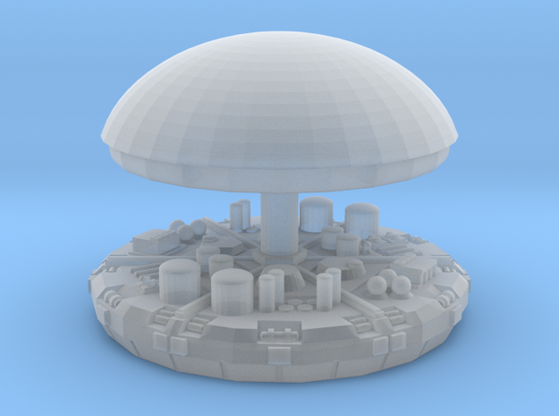 Dome and top in Smooth Fine Detail Plastic