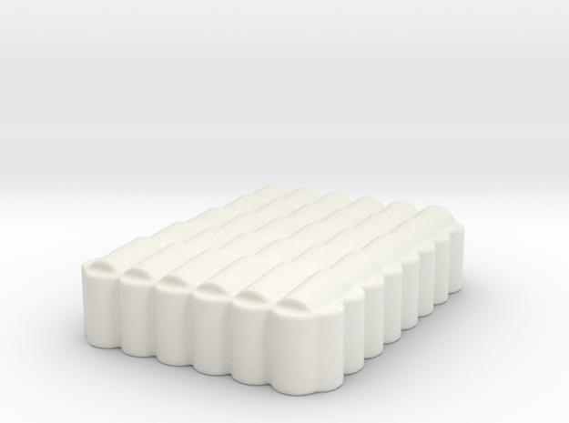 Roman Testudo  1/285  6x8 6mm in White Natural Versatile Plastic