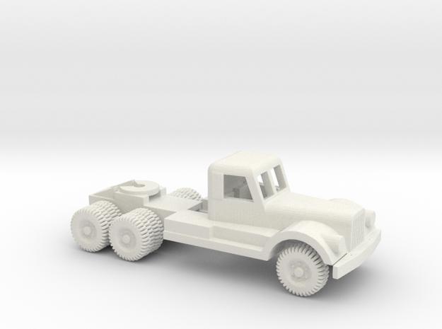 1/64 Scale Diamond T Tractor in White Natural Versatile Plastic