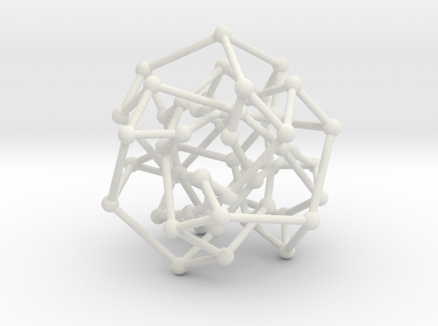 Cubic Klein graph in White Natural Versatile Plastic: Medium