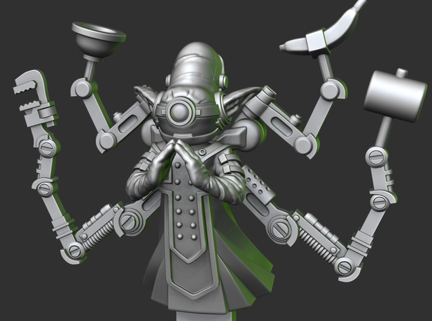 Goblin Mind Tinkerer Mk2 in Smooth Fine Detail Plastic