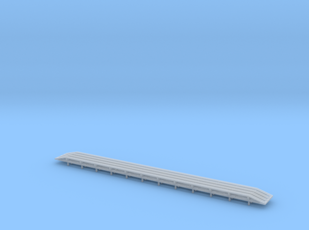 TOFC Rub Rails 2 Sets for Tichy 40' Flat in Smooth Fine Detail Plastic