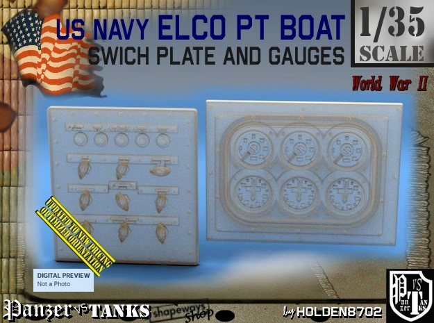 1/35 PT Boat Swich Plate and Gauges