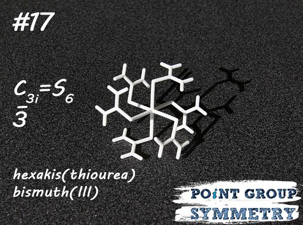 #17 C3i = S6 hexakis(thiourea)bismuth in White Natural Versatile Plastic