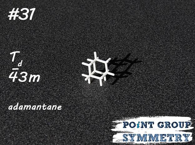 #31 Tdadamantane in White Natural Versatile Plastic