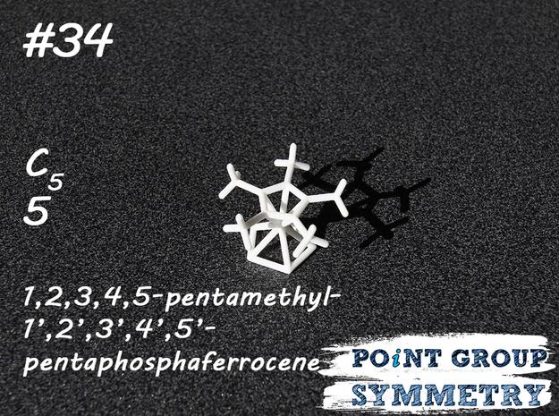 #34 C5pentamethyl-pentaphosphaferrocene in White Natural Versatile Plastic