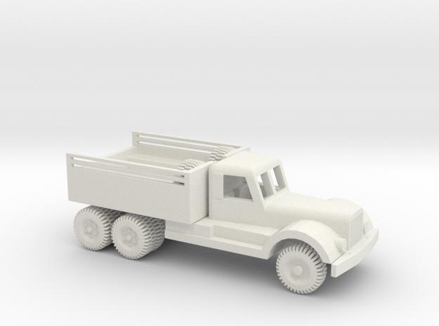 1/64 Scale Diamond T 4 ton Prime Mover in White Natural Versatile Plastic