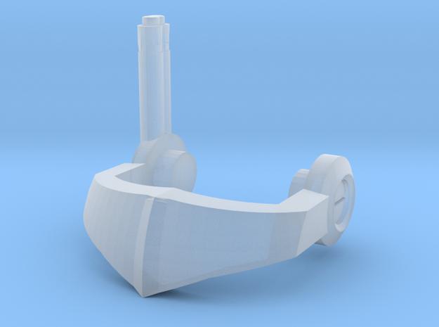 Tiny reinforced Nautical Femmebot Visor in Smoothest Fine Detail Plastic