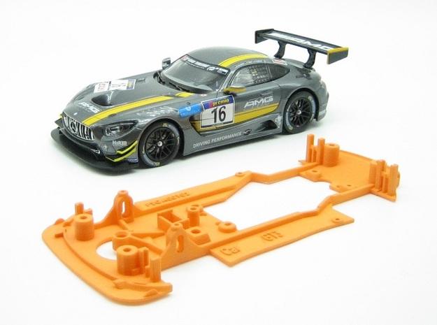 PSCA00102 Chassis for Carrera AM GT3 Digital in Orange Processed Versatile Plastic