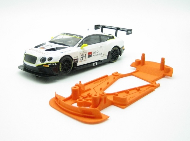 PSSX00502 Chassis for Scalextric Bentley GT3 (NSR) in Orange Processed Versatile Plastic
