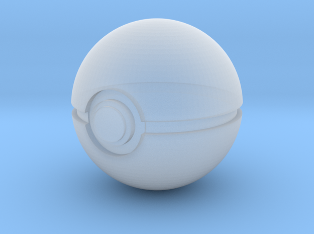 1/3rd Scale Pokeball in Smooth Fine Detail Plastic