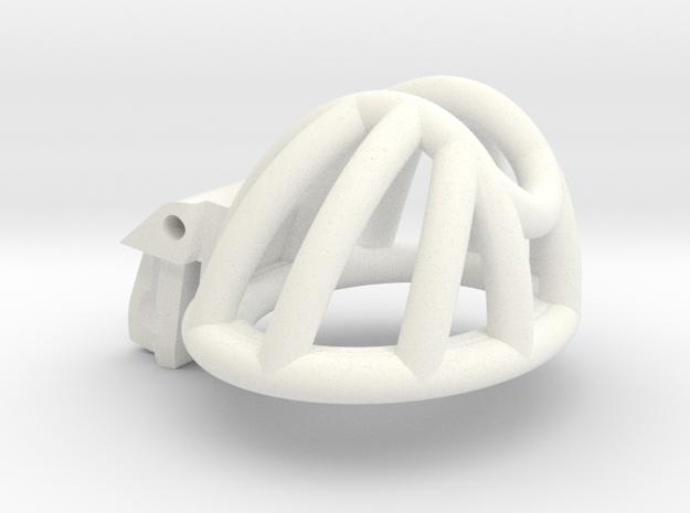 "Cherry Keeper ""Headlock"" Cage - Short Wide in White Processed Versatile Plastic: Medium"