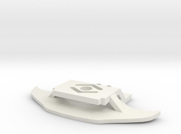 Porsche GT3RS Front Karohalte für MR03 in White Natural Versatile Plastic
