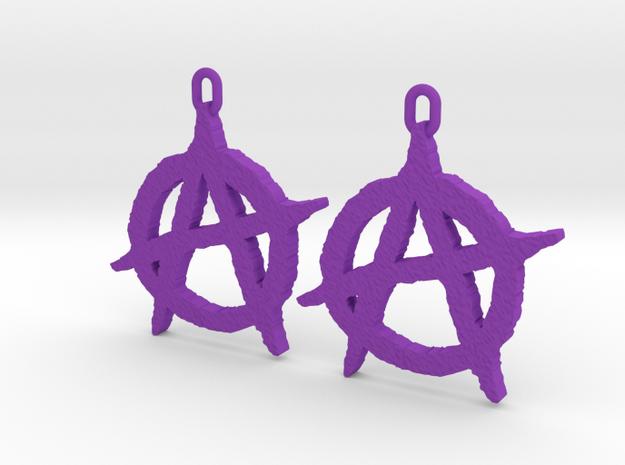 Anarchy Earrings in Purple Processed Versatile Plastic