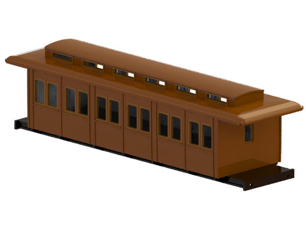 C3a - Swedish passenger wagon in Smooth Fine Detail Plastic