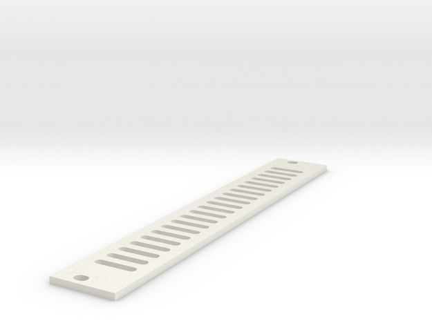 Eurorack Blank Panel 4HP - Vented in White Natural Versatile Plastic