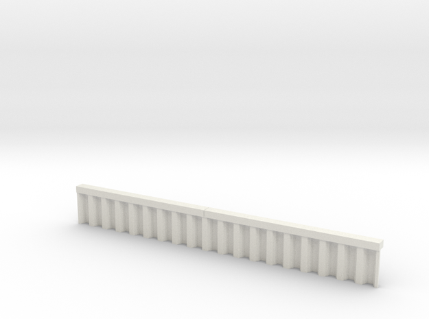 N Scale Sheet Piling Quay Wall H18 L142.5 in White Natural Versatile Plastic