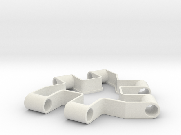 Material test part 1/2, Modular building block in White Natural Versatile Plastic