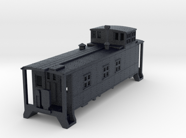 D&RGW Caboose 1400Series  in Black Professional Plastic