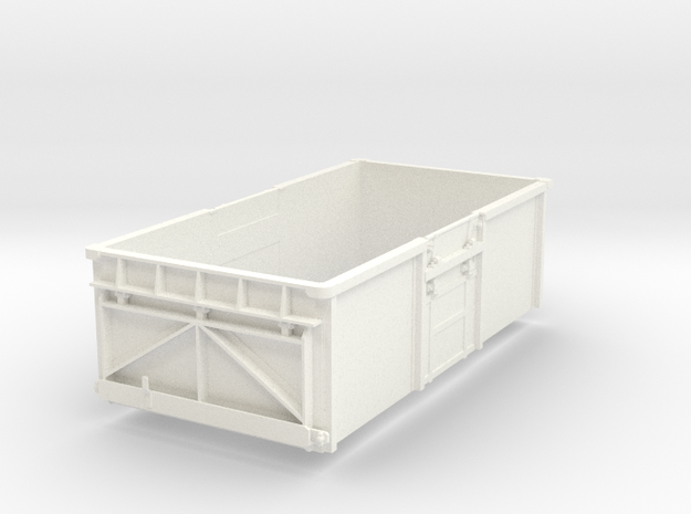 1/32 16t mineral wagon body with top door in White Processed Versatile Plastic