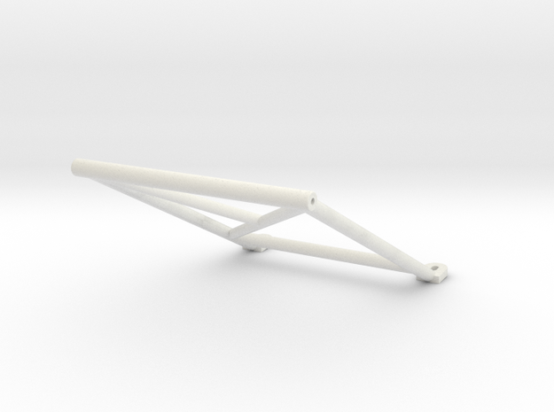 "Tamiya Blazing Blazer Rear Center Roll Bar ""Bar Sy in White Natural Versatile Plastic"