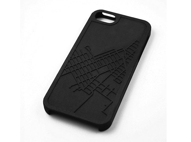 Red Hook Brooklyn Map iPhone 5/5s Case in Black Natural Versatile Plastic