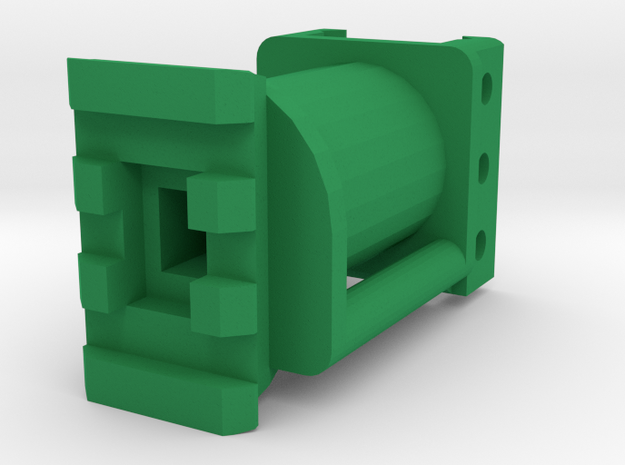 One World 50mm Shoulder Stock Extension in Green Processed Versatile Plastic