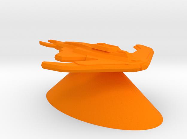 Cardassian Union - Destroyer in Orange Processed Versatile Plastic