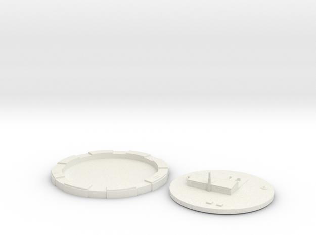 "LGM-30 Alert Facility LCC 2"" Base in White Natural Versatile Plastic"