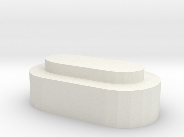 Batteriedeckel LiIon 2S H in White Natural Versatile Plastic