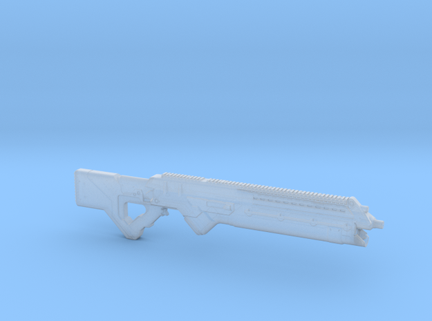 cyberpunk - near future carbine in 1/6 scale in Smooth Fine Detail Plastic