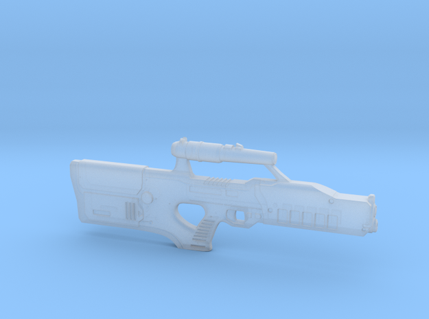cyberpunk - near future laser rifle in 1/6 scale in Smooth Fine Detail Plastic