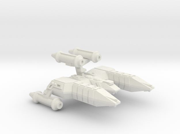 3788 Scale Lyran Refitted Top-Alleycat  CVN in White Natural Versatile Plastic