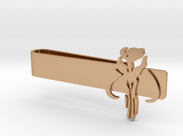 Star Wars Mandalorian Tie Bars in Polished Bronze