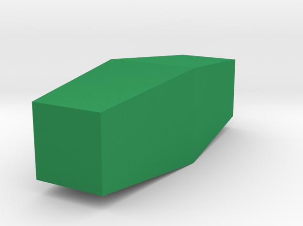 Stacked Long Trapezoidal Vase in Green Processed Versatile Plastic