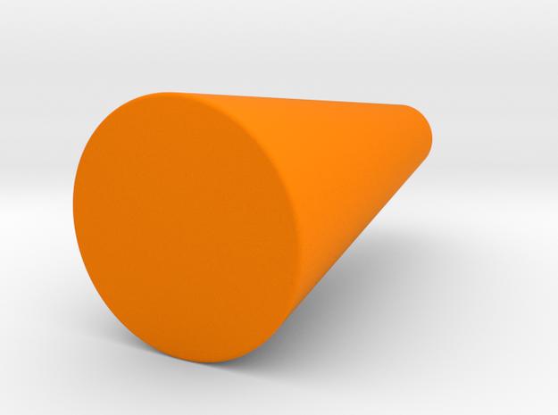 Rounded Cone Vase in Orange Processed Versatile Plastic