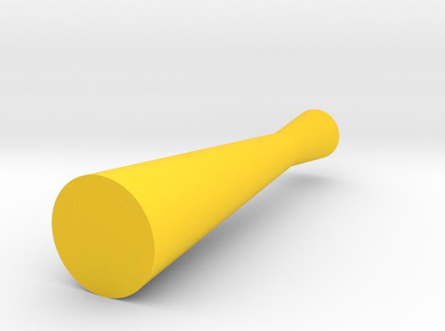 Thin Hourglass Vase in Yellow Processed Versatile Plastic
