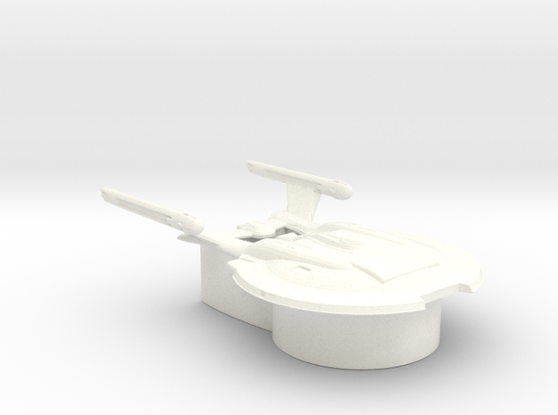 Federation of Planets - Enterprise NX 01 in White Processed Versatile Plastic