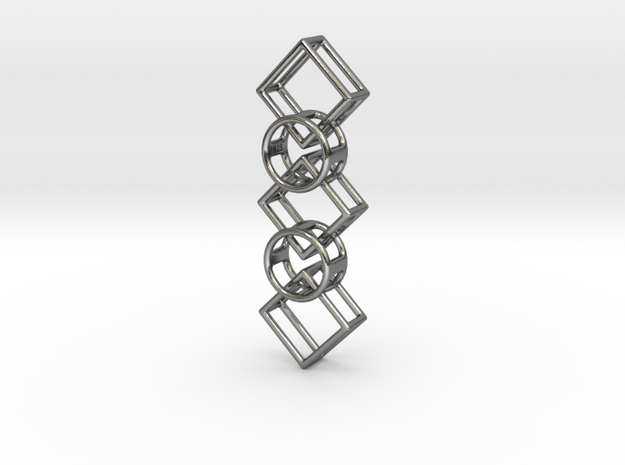 Interlocking Pendant RDSQ5 925 in Polished Silver (Interlocking Parts)