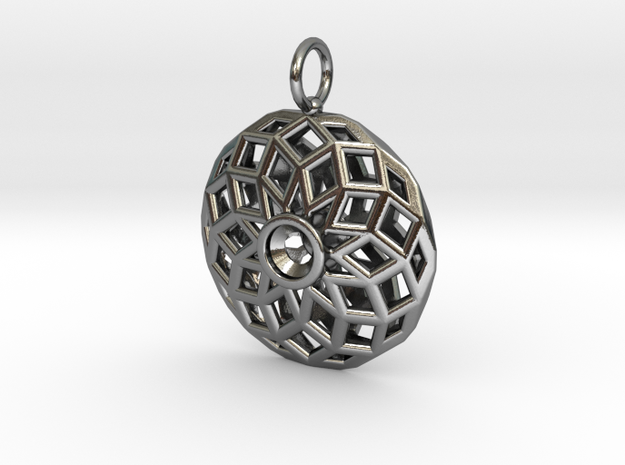 Polar SP 24mm 5mm 925 Pendant in Polished Silver