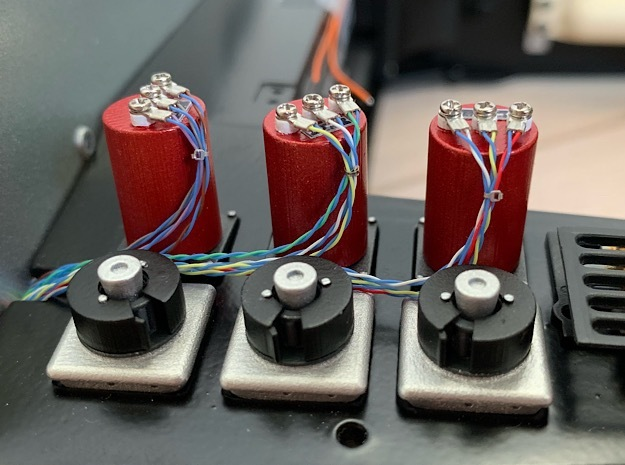 1:8 BTTF DeLorean Red Capacitors in Smoothest Fine Detail Plastic