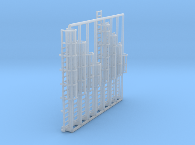 N Scale Cage Ladder Assorted 8pc in Smooth Fine Detail Plastic