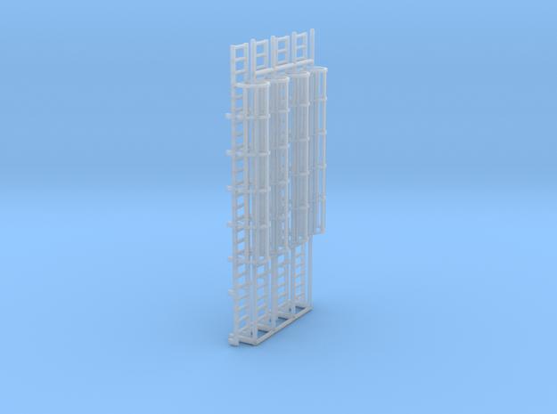 1:100 Cage Ladder 80mm Platform in Smooth Fine Detail Plastic