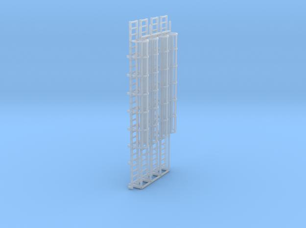 1:100 Cage Ladder 90mm Platform in Smooth Fine Detail Plastic