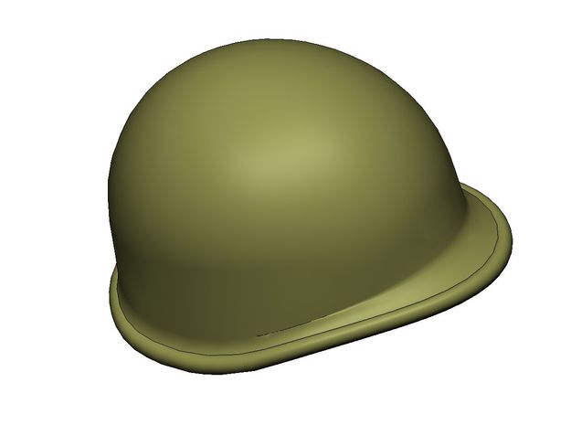 M1 Helmet 1:9 Scale in Smoothest Fine Detail Plastic