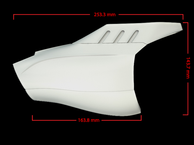 Iron Man Mark VII Forearm Armor 3d printed CG render (Measurements)