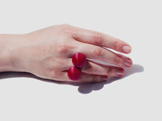 Cherry Ring 3d printed Cherry Ring on hand